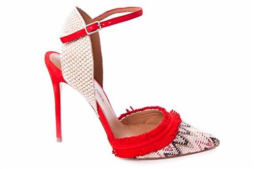 Pura Lopez Escarpins pour Femme Rouge NqyP8