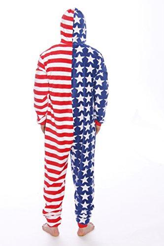 648eb0281 Amazon.com   followme 6423-S-Flag American Flag Adult Pajamas  Clothing