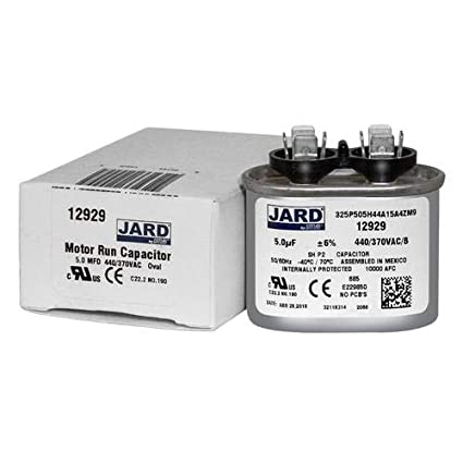 3 uf//Mfd 370//440 VAC AmRad Oval Universal Capacitor Made in The U.S.A. Jard 12903 Replacement