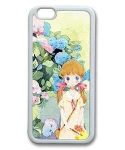 Sakuraelieechyan Cute Cartoon Girl-3 White Sides Rubber Shell TPU Case for Iphone 6 (4.7 inch)