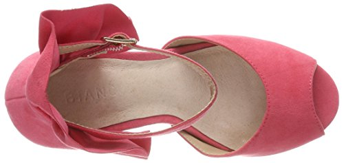 Bianco Fan Counter Sandal, Bout Ouvert Femme Rose (rasberry 51)