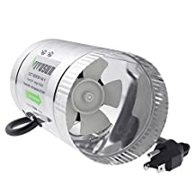 VIVOSUN 4 inch Inline Duct Booster Fan 100 CFM, Extreme Low Noise & Extra Long 5.5' Grounded Power Cord