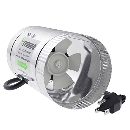 Long Fan Cords : Vivosun inch inline duct booster fan cfm low noise