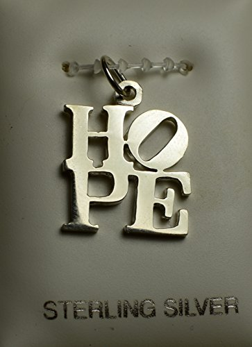 Official Obama Campaign HOPE Charm - 925 Sterling Silver