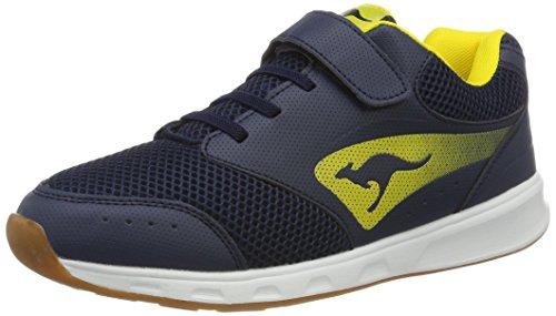 KangaROOS Rodo Ev - Zapatillas de casa Unisex Niños Blau (Dk Navy/Yellow)