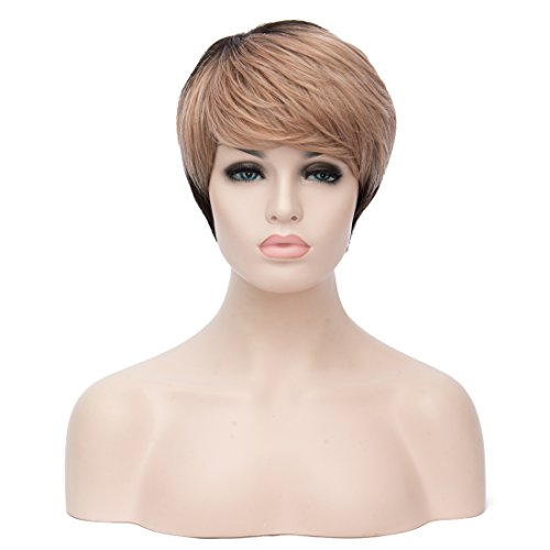 Womens Short Curly Highlight Bangs product image