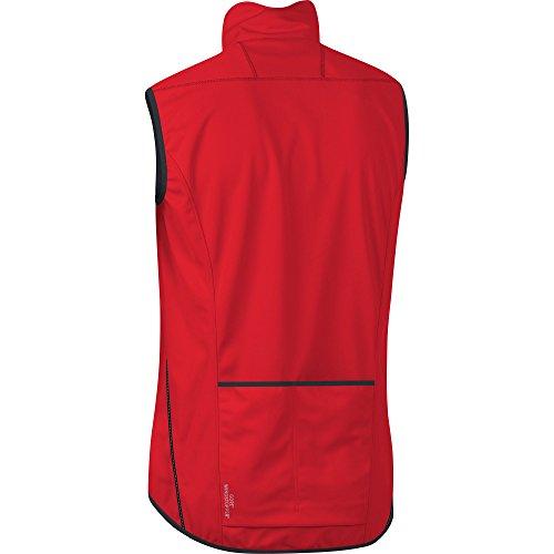 GORE BIKE WEAR Men's Soft Shell Cycling Vest, GORE WINDSTOPPER, ELEMENT Vest, Size: S, Red, VWELEM by Gore Bike Wear (Image #3)