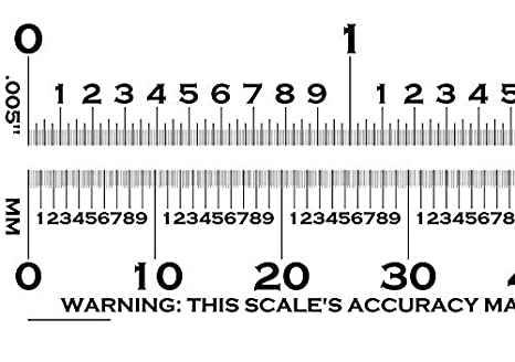 Precision Clear Flexible Film Transparency Ruler For Measuring And Size Estimation Amazon Com Industrial Scientific