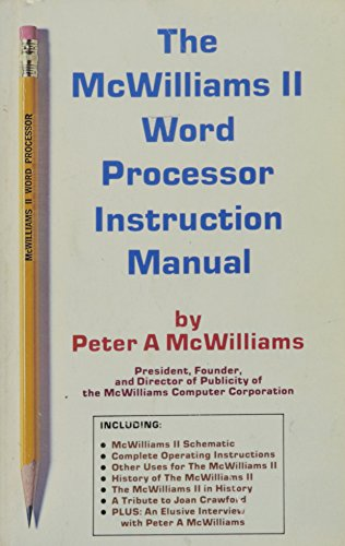 The McWilliams II Word Processor Instruction Manual