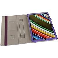i-BLASON Microsoft Surface Pro 3 Case - Slim-Fit Leather Folio Stand Case for Microsoft Surface Pro 3 12-Inch Tablet Black [All Models Compatible] (MS Surface Pro 3, Purple)