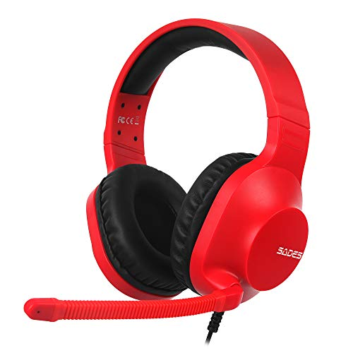 SADES Spirits 3.5mm Stereo Gaming Headphones for Nintendo Switch, PS4, Xbox One, Over Ear Headset with Noise Cancelling…