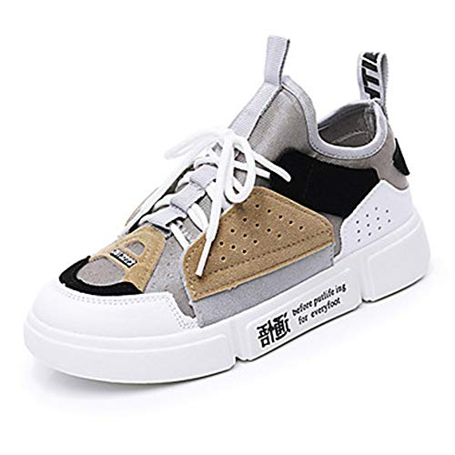 Bianco UK6 Estate Grigio Gray Scarpe Similpelle EU39 Piatto Donna Primavera Blu Comoda Sneakers 5 TTSHOES Per US8 5 CN40 BXwaqv7yz