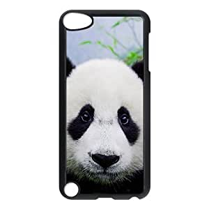 HXYHTY Customized Print Panda Pattern Hard Case for iPod Touch 5