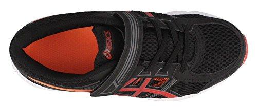 ASICS Unisex-Child Pre-Contend 4 PS Shoes, Size: 1.5 M US Little Kid, Color Black/Fiery Red/Shocking Orange