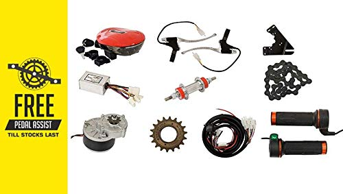 Geekay Electric Cycle Conversion Motor kit Cycle kit E Bike kit 24 Volt 250 Watt Electric Battery Bicycle Conversion kit Free Pedal Assist