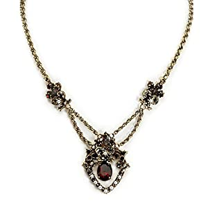 Victorian Costume Jewelry to Wear with Your Dress  Garnet and Pearl Pendant Necklace                                                                      Sweet Romance Garnet and Pearl Pendant Necklace                               $64.00 AT vintagedancer.com