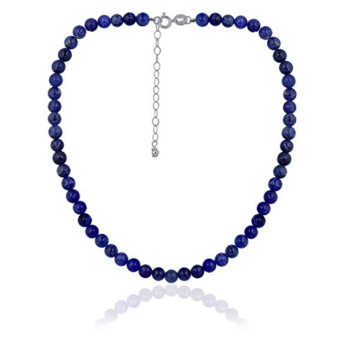 Sea of Ice Sodalite 6mm Round Beads Necklace 14
