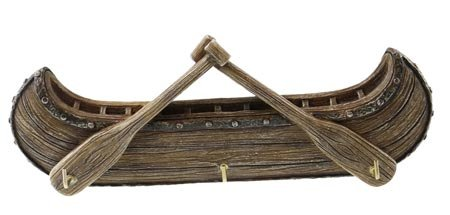 Key Holder 3 Hook Rack, Nautical Canoe Oars Wall Plaque Sculpture, 8''