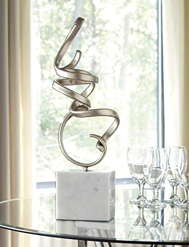 Signature Design by Ashley Pallaton Accent Sculpture, Champagne/White