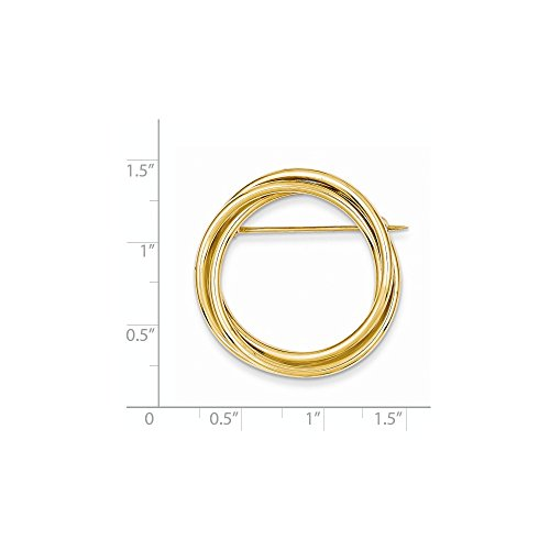 14k Solid Yellow Gold Circle Pin by Mia Diamonds and Co. (Image #1)