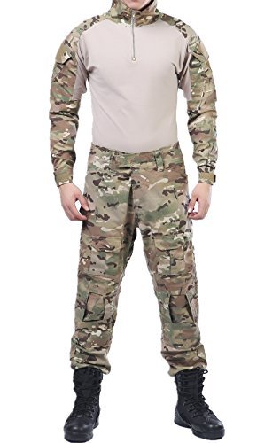 US Army CP Multicam Camo Tactical ACU Combat Shirts Top Pant Uniform Sets Ripstop by XinAndy Military