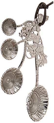 Ganz ER21859 4-Piece Set, Sunflower Measuring Spoon, One Size, silver