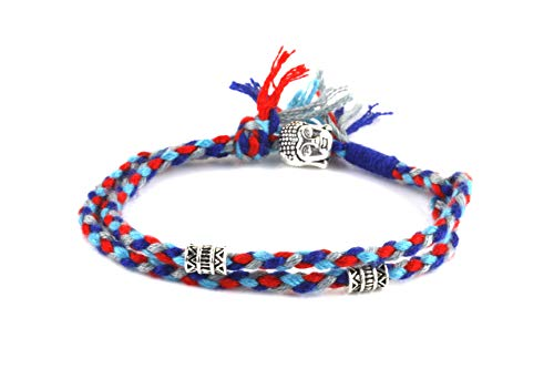 - Dowling Brothers Tibetan Monk Lucky Cotton Flag Bracelet White Copper Buddha
