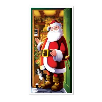 Beistle Santa Door Cover, 30 x 5 (Three-Pack)