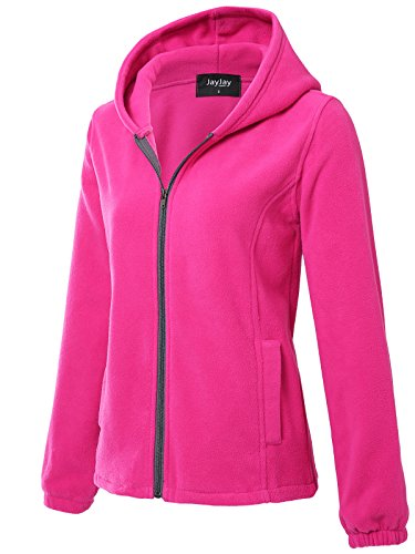 JayJay Women Ultra Soft Fleece Long Sleeve Hoodie Jacket