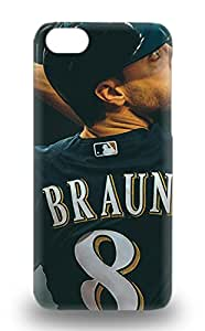 Hot Snap On MLB Milwaukee Brewers Ryan Braun #8 Hard Cover 3D PC Case Protective 3D PC Case For Iphone 5c ( Custom Picture iPhone 6, iPhone 6 PLUS, iPhone 5, iPhone 5S, iPhone 5C, iPhone 4, iPhone 4S,Galaxy S6,Galaxy S5,Galaxy S4,Galaxy S3,Note 3,iPad Mini-Mini 2,iPad Air )