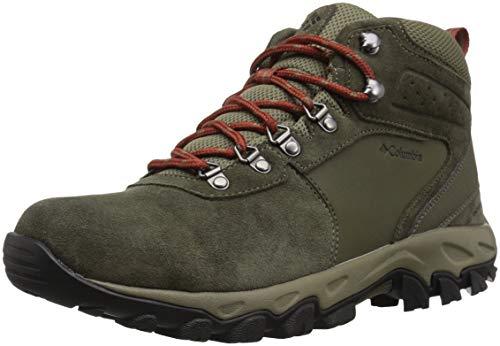 Columbia Men's Newton Ridge Plus II Suede Waterproof Wide Hiking Shoe, peat Moss, Burgundyy, 7 Wide US