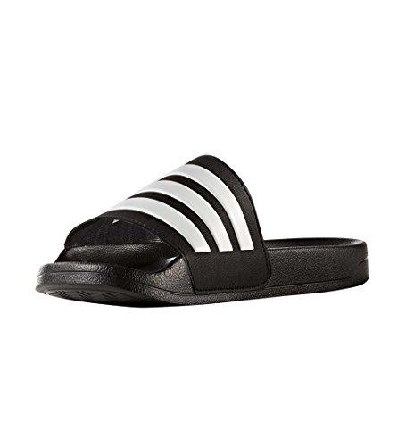 adidas Men's Adilette Shower Slide Sandal, Black/White/Black, 11 M US by adidas (Image #1)
