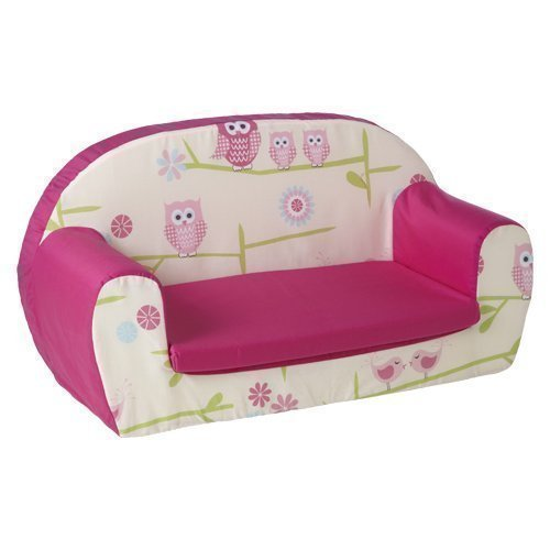 Ready Steady Bed Childrens Toddler Foam Sofa, Owls
