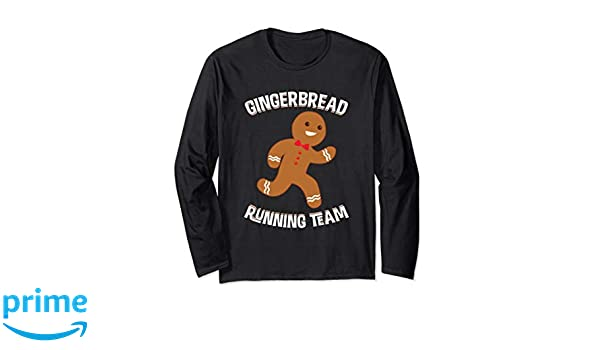Amazon.com: Gingerbread Running Team Christmas Runner Long sleeve Shirt: Clothing