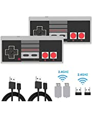 NES Classic Controller 2 Pack, Kyerivs Rechargeable NES Wireless Gamepad for Nintendo Mini NES Classic Edition, Wireless Joypad & Gamepads Controller