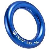PROND Aluminum Rappel Ring, Climb Perfect Tension Aluminum Alloy O-Ring, 23KN Rappel Rings for Rock Climbing Arborist and Hammock