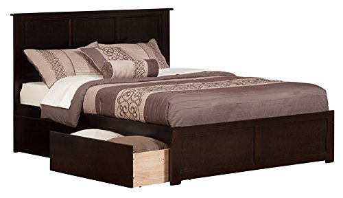 Madison Bed with Flat Panel Foot Board and 2 Urban Bed Drawe