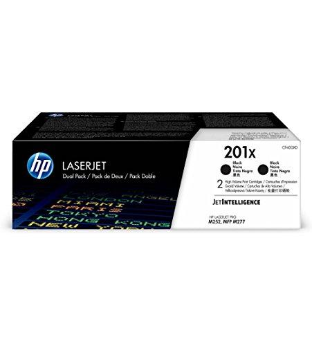 HP 201X (CF400XD) Black High Yield Original LaserJet Toner Cartridge, 2 Cartridges