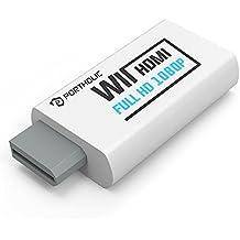 Wii a HDMI adaptador de audio y vídeo de convertidor de salida portholic–Soporta todos Wii modos de visualización (NTSC 480i 480p, PAL 576i) a 720p/1080p HDTV & Monitor
