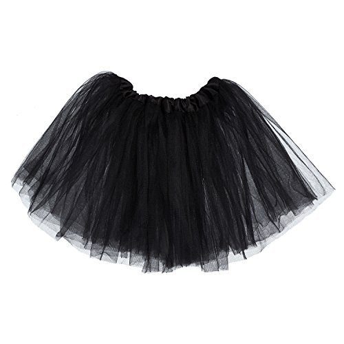 (My Lello Little Girls Tutu 3-Layer Ballerina Black (10 mo -)