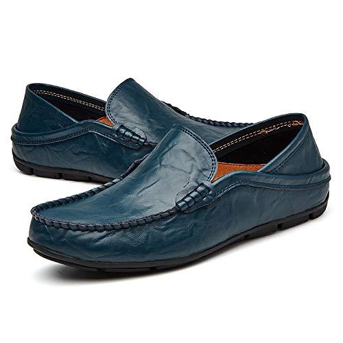 design Dimensione Men's Color EU Flat Driving Casual Hollow PU Scarpe On semplice Flat Ofgcfbvxd LoaferInsole 41 Blue Blu dal Mocassini Slip AqBFFx8wT