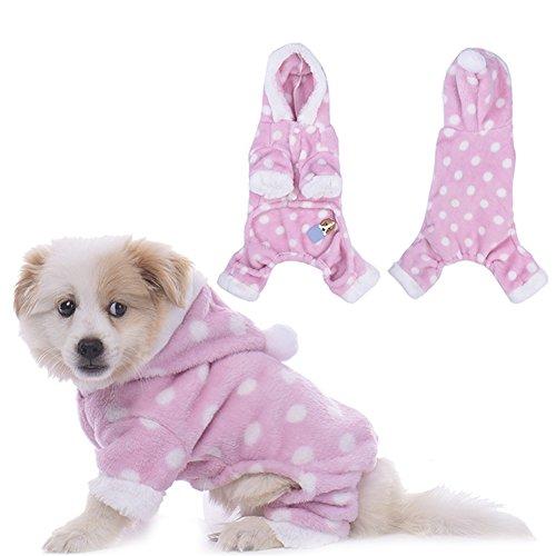 Molie Pet Dog Pajamas Warm Jumpsuits Sweater Hoodie Puppy Soft Pajamas Costume