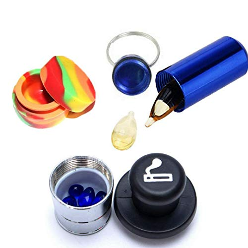 Decoy Trends Cigarette Lighter Stash Diversion Safe - Waterproof Aluminum Pill Drug Holder Box - Non-Stick Food Grade Silicone Container Diversion Hidden Security Bundle