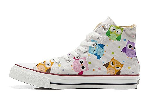 Tiny Converse Schuhe personalisierte Owls All Handwerk Star Customized Hi Schuhe wqwRA4a