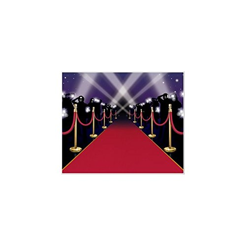 [5' x 6' Red Carpet Insta-Mural Scene Setter Decal Halloween Decoration] (Hollywood Fancy Dress)
