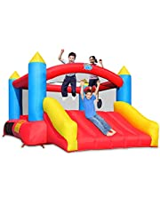 ACTION AIR [Updated Version] Bounce House, 12x9 Foot Inflatable Bouncy Castle with Air Blower, Jumping Castle with Slide, Family Backyard Bouncer, Durable Sewn with Extra Thick Material, Idea for Kids (C-9745)