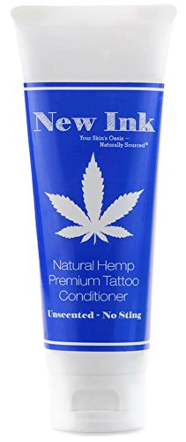 Premium Natural Hemp (Unscented) Tattoo Conditioner Lotion 4 oz. | Before, During & Aftercare – New Ink No Sting – Hemp & Vitamin Infused – No Petroleum – Never Greasy (Hemp Lotion Products)