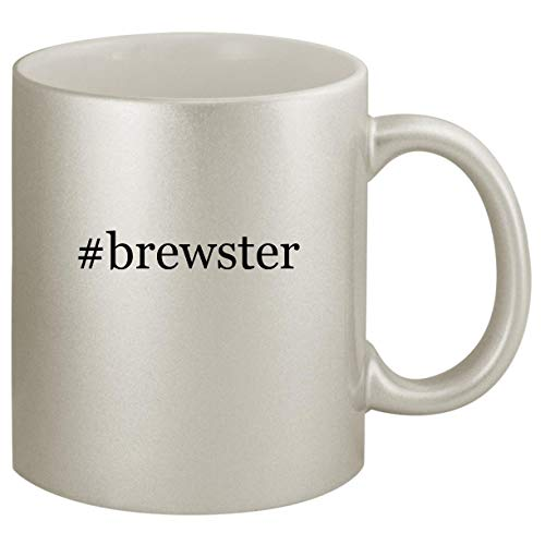 #brewster - Ceramic Hashtag 11oz Silver Coffee Mug, Silver