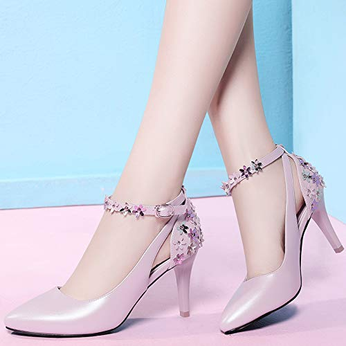 High Women'S heels Shoes Pink Shoes Mouth Single Wild Shallow Fine Shoes Women'S High With Shoes Heels Women'S Women Small Yukun qdtTgxnHwq