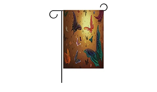 EVERUI 164022832-Artistic-Wallpapers Personalized Garden Flags Decorative Outdoor Flags for Garden Printed on Both Sides 12 x 18
